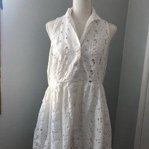 Topshop sleeveless white dress